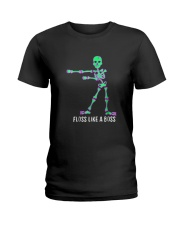 Floss Like A Boss Skeleton T Shirt Ladies T-Shirt thumbnail