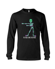 Floss Like A Boss Skeleton T Shirt Long Sleeve Tee tile