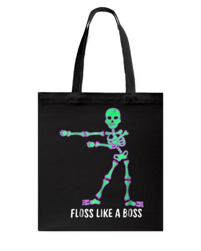 Floss Like A Boss Skeleton T Shirt