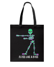 Floss Like A Boss Skeleton T Shirt Tote Bag thumbnail