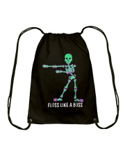 Floss Like A Boss Skeleton T Shirt Drawstring Bag thumbnail