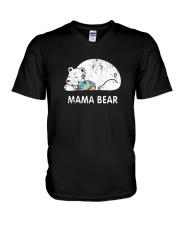 Mama Bear Autism Awareness T-Shirt V-Neck T-Shirt thumbnail
