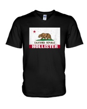 Distressed CA Republic Flag T-Shirt V-Neck T-Shirt thumbnail