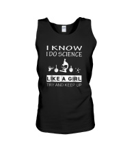 I Know I Do Science Like A Girl Try And Keep Up Unisex Tank thumbnail