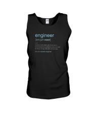 Engineer Definition T-shirt Unisex Tank thumbnail