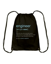 Engineer Definition T-shirt Drawstring Bag thumbnail