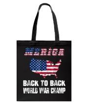 Merica Back To Back World War Shirt Tote Bag thumbnail