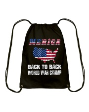 Merica Back To Back World War Shirt Drawstring Bag thumbnail