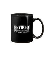 Retired Under New Management TShirt Mug thumbnail
