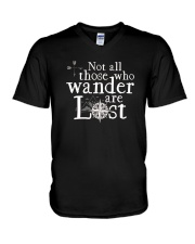 Not All Those Who Wander Are Lost Shirt V-Neck T-Shirt thumbnail