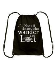 Not All Those Who Wander Are Lost Shirt Drawstring Bag thumbnail