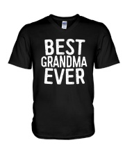Best Grandma Ever T-Shirt V-Neck T-Shirt thumbnail