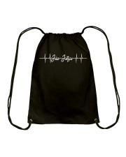 Jiu Jitsu Heartbeat Shirt Drawstring Bag thumbnail