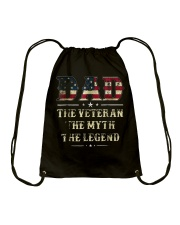 Dad the Veteran the Myth the Legend Tshirt Drawstring Bag thumbnail
