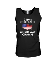 2 Time Undefeated World War Champs USA T-Shirt Unisex Tank thumbnail