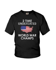 2 Time Undefeated World War Champs USA T-Shirt Youth T-Shirt thumbnail
