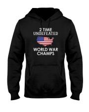 2 Time Undefeated World War Champs USA T-Shirt Hooded Sweatshirt thumbnail