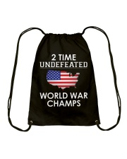 2 Time Undefeated World War Champs USA T-Shirt Drawstring Bag thumbnail