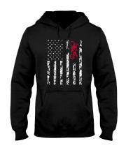 American Flag and Motorcycle T-Shirt Hooded Sweatshirt thumbnail