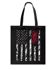 American Flag and Motorcycle T-Shirt Tote Bag tile