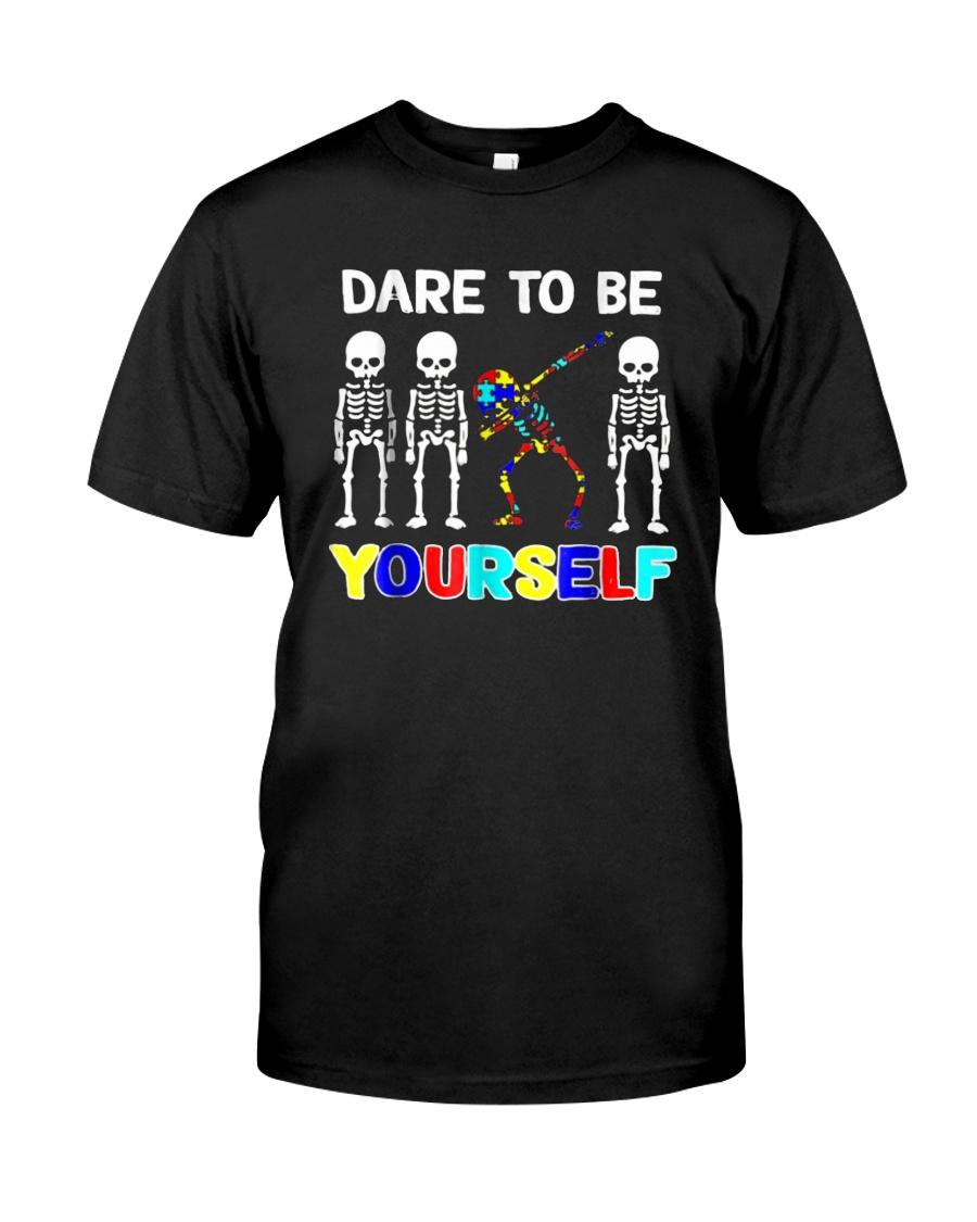 Sleketon Dabbing Autism Awareness  Classic T-Shirt