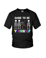 Sleketon Dabbing Autism Awareness  Youth T-Shirt thumbnail