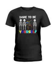 Sleketon Dabbing Autism Awareness  Ladies T-Shirt thumbnail