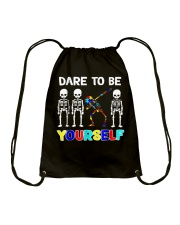 Sleketon Dabbing Autism Awareness  Drawstring Bag thumbnail