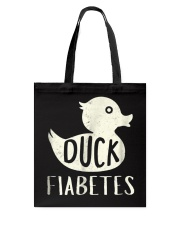 Funny Duck Diabetes Awareness Shirt Tote Bag thumbnail