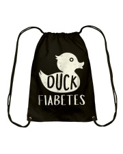 Funny Duck Diabetes Awareness Shirt Drawstring Bag thumbnail