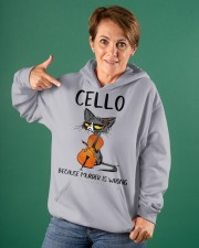 cello cat Hooded Sweatshirt apparel-hooded-sweatshirt-lifestyle-front-88