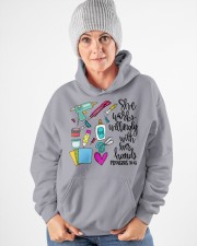 SHE WORKS WILLINGLY WITH HER HAND - SCRAPBOOKING Hooded Sweatshirt apparel-hooded-sweatshirt-lifestyle-front-83