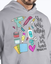SHE WORKS WILLINGLY WITH HER HAND - SCRAPBOOKING Hooded Sweatshirt apparel-hooded-sweatshirt-lifestyle-front-89