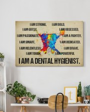 canvas dental hygienist watercolor 30x20 Gallery Wrapped Canvas Prints aos-canvas-pgw-30x20-lifestyle-front-03