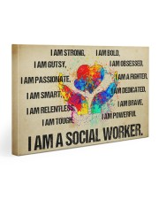 I AM A SOCIAL WORKER - CANVAS 30x20 Gallery Wrapped Canvas Prints front