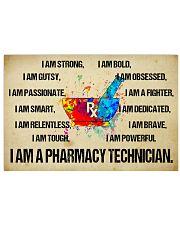canvas pharmacy technician watercolor Horizontal Poster tile
