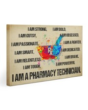 canvas pharmacy technician watercolor 30x20 Gallery Wrapped Canvas Prints front