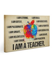 canvas teacher 30x20 Gallery Wrapped Canvas Prints front