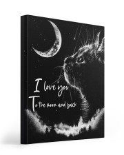 I LOVE YOU TO THE MOON AND BACK Gallery Wrapped Canvas Prints tile
