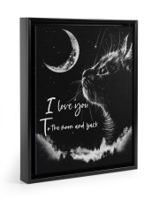 I LOVE YOU TO THE MOON AND BACK 11x14 Black Floating Framed Canvas Prints front