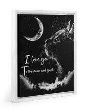 I LOVE YOU TO THE MOON AND BACK Floating Framed Canvas Prints White tile