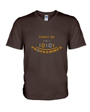 Trust me im a Programmer V-Neck T-Shirt front