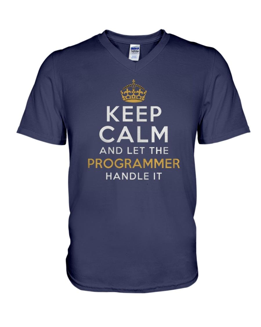 Let the programmer V-Neck T-Shirt