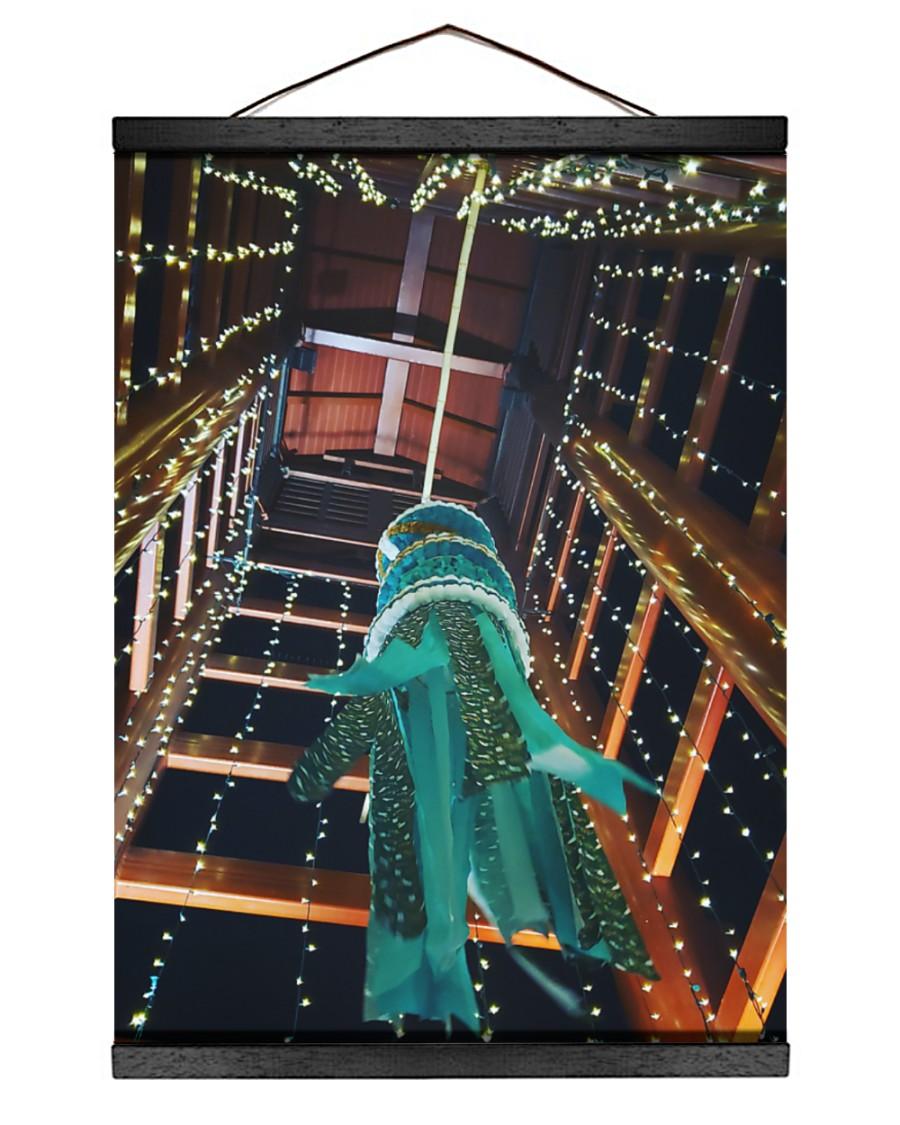 Star Festival - Tanabata 12x16 Black Hanging Canvas