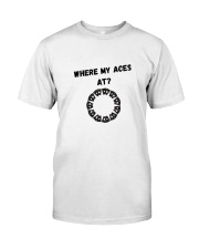 Asexual Awareness - Where my Aces at Classic T-Shirt front