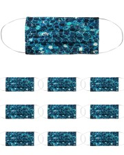 Face Mask - Blue Sparkles Cloth Face Mask - 10 Pack front