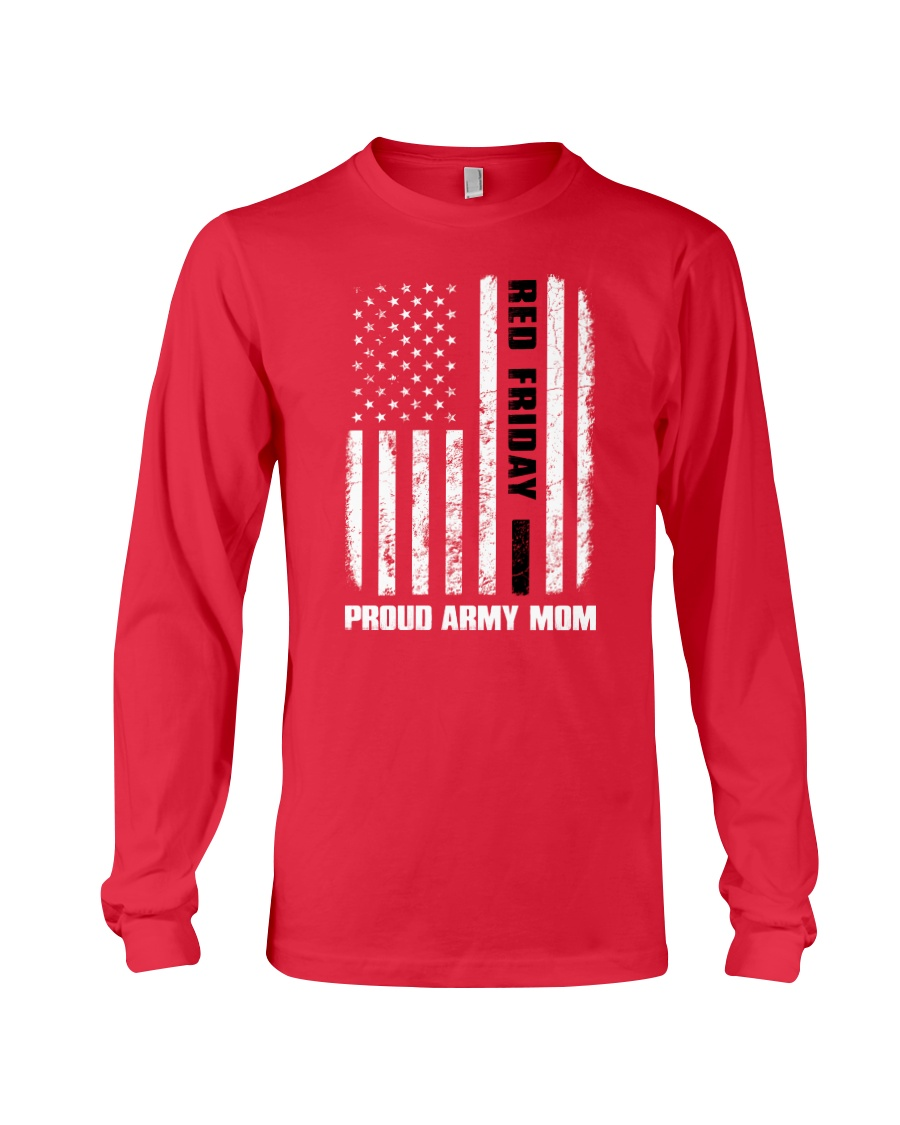 Red Friday - Army mom Long Sleeve Tee