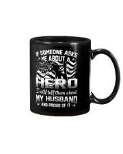 Hero- My husband - Lineman Wife Mug thumbnail