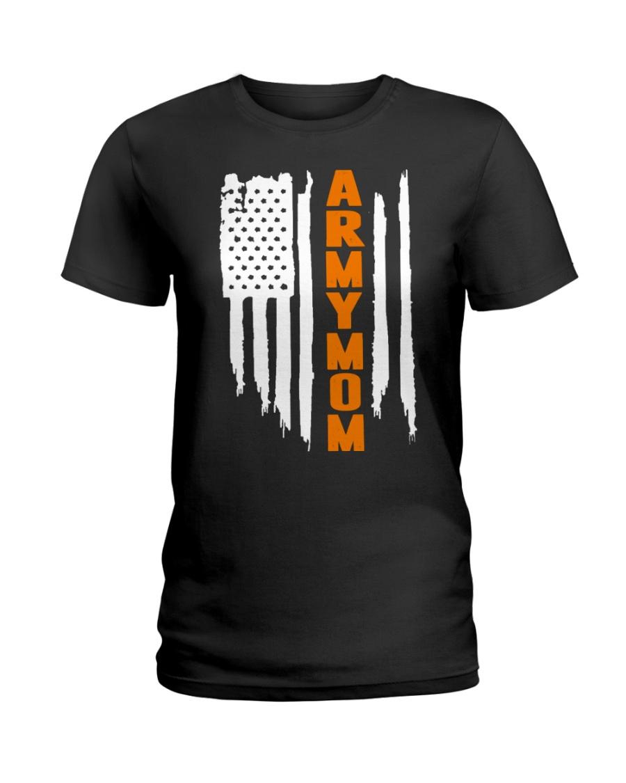 Proud Army Mom - flag Ladies T-Shirt