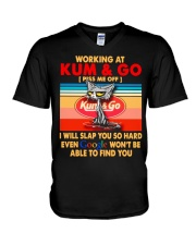 Working at kum T-shirt V-Neck T-Shirt thumbnail